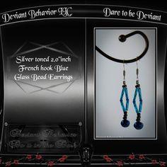 Glassbead blue earrings