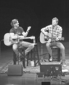 Dierks Bentley Photos Photos - This image has been converted to black and white) Brett James joins Dierks Bentley and perform during The Country Music Hall of Fame and Museum Presents an Interview and Acoustic Performance With Dierks Bentley and friends at the CMA Theater at the Country Music Hall of Fame and Museum on March 12, 2016 in Nashville, Tennessee. - The Country Music Hall of Fame and Museum Presents an Interview and Acoustic Performance with Dierks Bentley