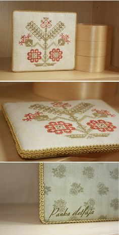 Hungarian folk pattern on pinkeep