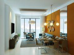 Accolade Place - Living Room and Dining Room Area #condominium #realEstate #manilacondo www.mymanilacondo.com Quezon City, Luxury Condo, Condos For Sale, Condominium, Manila, Sweet Home, Dining Room, Real Estate, Places