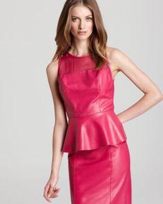 pink lady / leather peplum