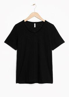 & Other Stories   Linen-Blend T-shirt