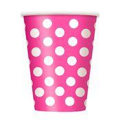 Pink Polka Dot Paper Cups...valentines day is just around the corner!  - Jilly Bean Kids www.jillybeankids.com