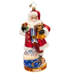 Christopher Radko Glass Patriotic National Treasure Nick Santa Claus Christmas Ornament 1017428 *** This is an Amazon Affiliate link. Read more reviews of the product by visiting the link on the image.