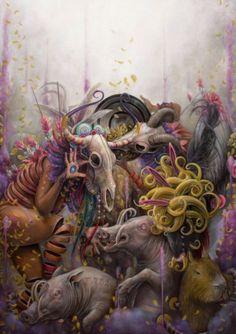 As surreais, psicodélicas e bizarras pinturas de Hannah Faith Yata