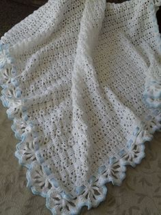 Crochet Mantillas Para Bebes Cashmiloncashmilon Deverano Tejido A ...