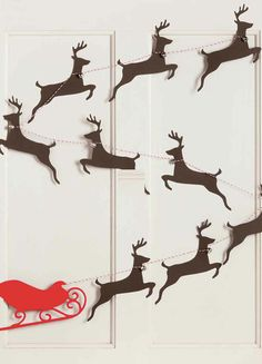 Sleigh and Reindeer garland