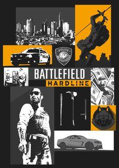 Battlefield Hardline Poster by LandLCreations
