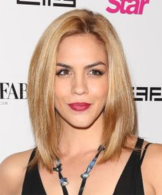 Katie Maloney Hairstyle - Casual Medium Straight. Click on image to try on this hairstyle and view styling steps!
