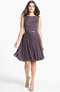 Adrianna Papell Burnout Fit & Flare Dress | Hukkster