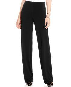 Alfani Wide-Leg Knit Dress Pants, Only at Macy's