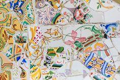 Barcelona Spain Park Guell Mosaic Floral by DanielleAquiline, $30.00