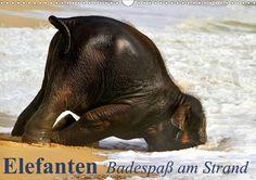 Elefanten - Badespaß am Strand - CALVENDO