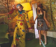 The latest December issue of British Vogue contains about ten examples of women who could be considered underweight, including this model (right) in an advert for Gucci
