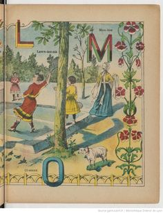 Alphabet des fillettes | Gallica Alphabet, Picture Dictionary, Bnf, Typography Prints, Letters, Illustration, Pictures, Painting, Image