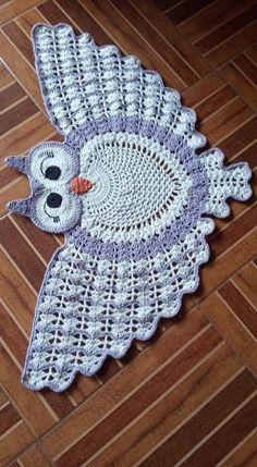 Crochet Ripple Blanket, Crochet Quilt, Filet Crochet, Crochet Motif, Crochet Doilies, Crochet Stitches, Owl Crochet Patterns, Animal Knitting Patterns, Crochet Designs