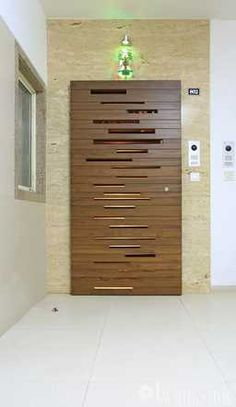Tejas Mistry - The Interior Workshop - Interior Designer in Surat Modern Entrance Door, Main Entrance Door Design, Front Gate Design, Modern Front Door, Wood Front Doors, Entrance Doors, Wooden Doors, Bedroom Door Design, Door Design Interior