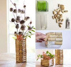 Diy Fun World: Crafts with Corks - 30 creative and simple craft ideas Easy Crafts, Arts And Crafts, Champagne Corks, Cork Art, Wine Cork Crafts, Craft Show Ideas, Driftwood Art, Tampons, Handmade Christmas