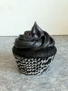 A Max specialty! black cupcake