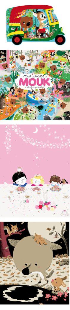 Le tour du Monde de MOUK, de Marc Boutavant.  Les dessins animés sont eux aussi une perle rare et merveilleuse pour l'éveil de nos enfants. Et pour le notre aussi...