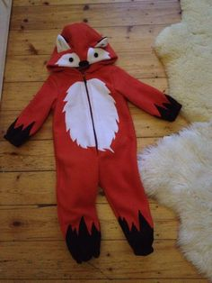 ❤️ little fox costume, kids jumpsuit Purim Costumes, Toddler Costumes, Baby Costumes, Fox Halloween Costume, Halloween Kids, Diy Fox Costume, Fox Fancy Dress, Felt Ornaments Patterns, Fox Crafts