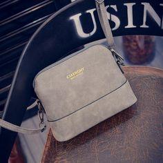 Hanup New fashion women's messenger bag scrub shell bag Nubuck Leather small bags over the shoulder womens purses and handbags