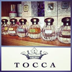 """@Schroeder Fisher's photo: """"Tocca perfumes are so fresh, elegant, and timeless. Our current scents include: Cleopatra, Liliana, Bianca, Giulietta, & Stella. We also carry the full range of award winning Tocca candles and body care products! #bramblefragrance #bramblegifts #Tocca"""""""