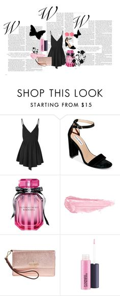 """4"" by irisjwang on Polyvore featuring Glamorous, Steve Madden, Victoria's Secret, By Terry, Kate Spade, MAC Cosmetics and Dollydagger"