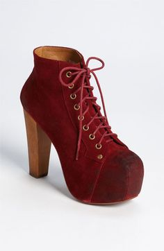 Jesus I want these for the Holidays and the green (next post) Jeffrey Campbell 'Lita' Bootie available at #Nordstrom