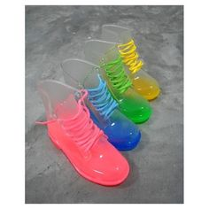 shoes ombre transparent boots military boots lace up