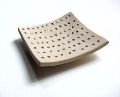 Alphabet Typewriter Ceramic Soap Dish, Spoon Rest, Jewelry Dish, Multipurpose. $14.00, via Etsy.