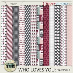 WHO LOVES YOU: Paper Pack 1