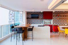 Retro 60s meets contemporary design in neon - homeyou ideas #interiordesign #homedecor #kitchen - by Andre Diogo Moecke