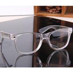 2017 New Plain Rivet Glasses Transparent Frame General Fashion Glasses Eyewear Accessories For Men Women