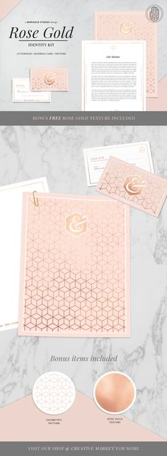 ROSE GOLD Theme | Identity Kit by Marigold Studios on @creativemarket