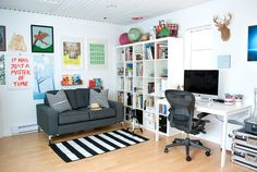 Nerissa's studio... a Mom, blogster and entrepeneur living in Vancouver (via Bloesem)