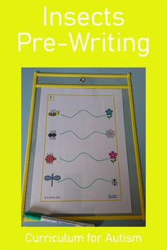 Are you looking for a pre-writing activity for your kindergarten students with autism? Download these Insects theme write & wipe pages today from Curriculum For Autism for your classroom or home school fine motor skills lessons