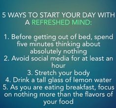 Everyday I will start to do this !