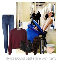 """Playing around backstage with Narry"" by autumnfarmer on Polyvore featuring Frame Denim, WigYouUp, H&M and It Cosmetics"