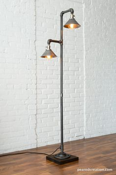 Industrial Floor Lamp  Metal Shade  Edison by newwineoldbottles