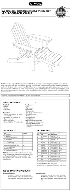 DIY adirondack chair plans, I see this on my hubby's to do list. Adirondack Chair Plans, Adirondack Furniture, Rustic Furniture, Diy Furniture, Modern Furniture, Outdoor Furniture, Woodworking Table Plans, Woodworking Projects, Youtube Woodworking