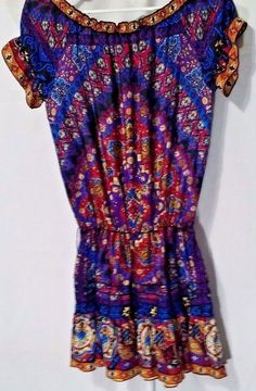 RAMPAGE Paisley Dress-Small-Tired-Short Sleeve-Summer Dress-Colorful #Rampage #Tiered #Causal