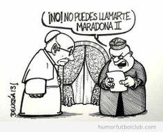 Humor grafico el papa maradona II