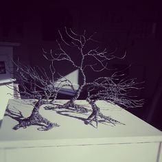 Gallery artist Glenn Gibson's alluminium trees #NationalTreeDay