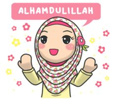 Bunga back again with new stickers that you can use everyday, let's use this stikers for you daily conversation Cute Cartoon Pictures, Cute Love Cartoons, Ramadan Dp, Muslim Ramadan, Muslim Greeting, Islamic Cartoon, Kids Background, Islam For Kids, Blog Backgrounds