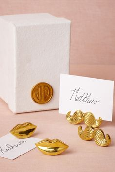 What: Loquacious Place Card Holders (4), Who: The Party Planner, Price: $98