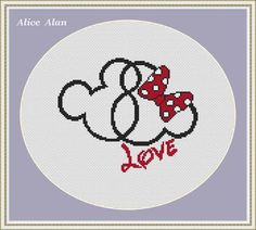 Cross Stitch Pattern Minnie and Mickey Mouse superheroes