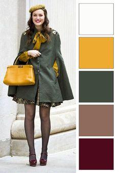 ősz színtípus színei (3) Colour Combinations Fashion, Color Combinations For Clothes, Color Blocking Outfits, Fashion Colours, Colorful Fashion, Color Combos, Fall Color Palette, Colour Pallette, Mode Inspiration