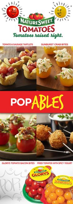 WARNING: Pop-able game day NatureSweet® tomato snacks may not last through half-time–make extra!  #GameDaySnacking #appetizers