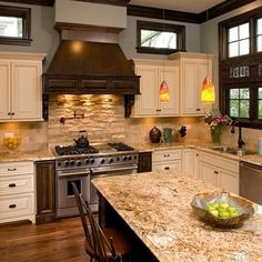 Kitchen Granite Backsplash Extension Design Ideas, Pictures, Remodel and Decor